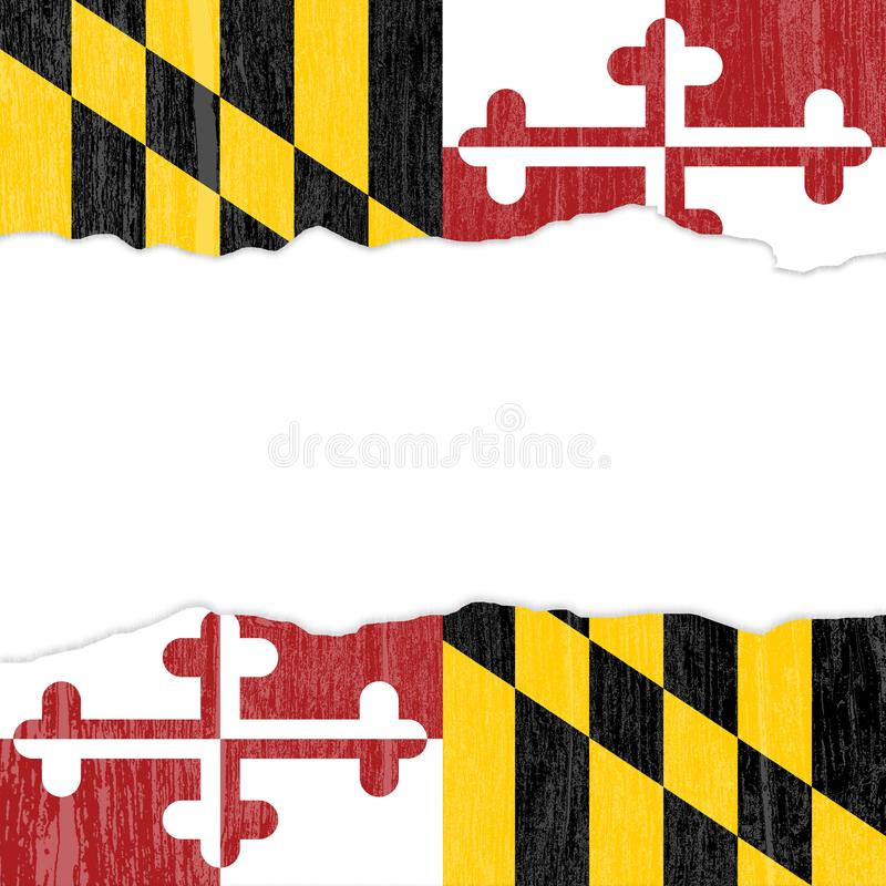 Абстрактная иллюстрация предпосылки цвета флага Мэриленда grunge иллюстрация штока