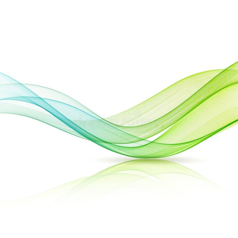 Абстрактная иллюстрация волны движения иллюстрация штока