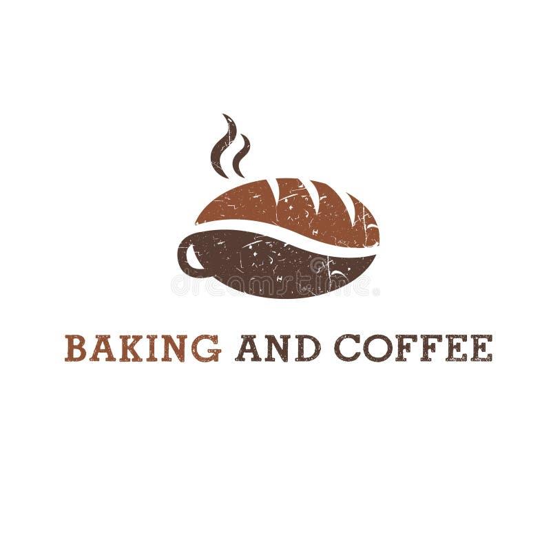 Абстрактная иллюстрация кофе и печенья иллюстрация штока