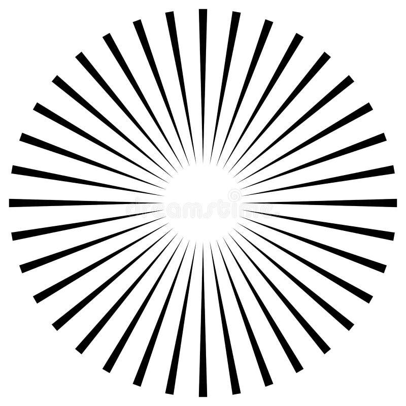 Download Абстрактная иллюстрация круговой картины с Radial, Radiati Иллюстрация вектора - иллюстрации насчитывающей излучать, абстракции: 81800597