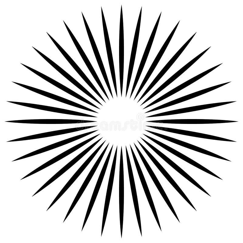 Download Абстрактная иллюстрация круговой картины с Radial, Radiati Иллюстрация вектора - иллюстрации насчитывающей центрально, royalty: 81800598