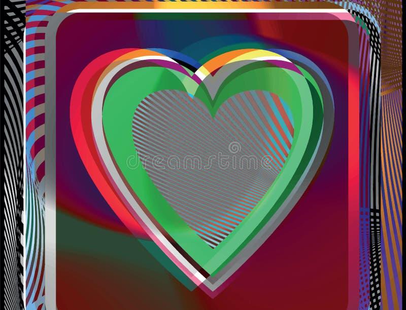 Абстрактная иллюстрация сердца иллюстрация штока