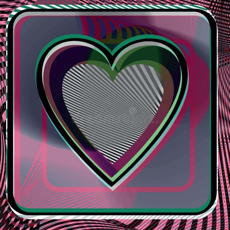 Абстрактная иллюстрация сердца иллюстрация вектора