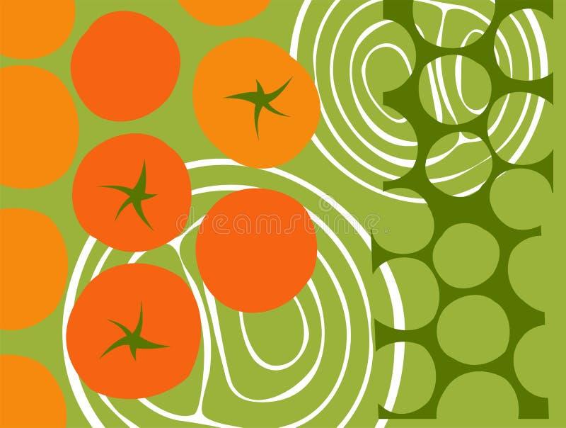 Абстрактная иллюстрация томатов иллюстрация вектора