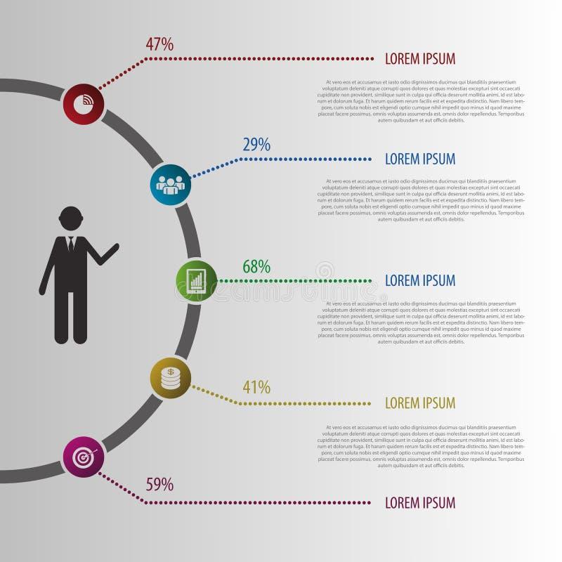 Абстрактная иллюстрация Infographic дизайна вектор иллюстрация вектора
