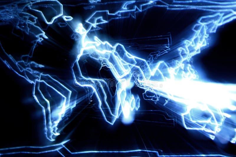 абстрактная карта зарева иллюстрация штока