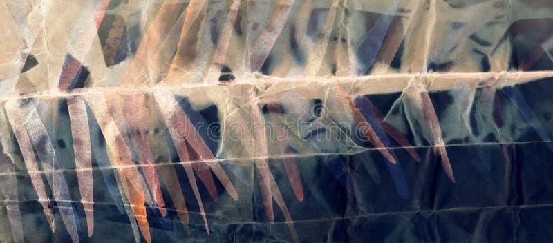 Абстрактная картина акварели на скомканной бумаге стоковое фото