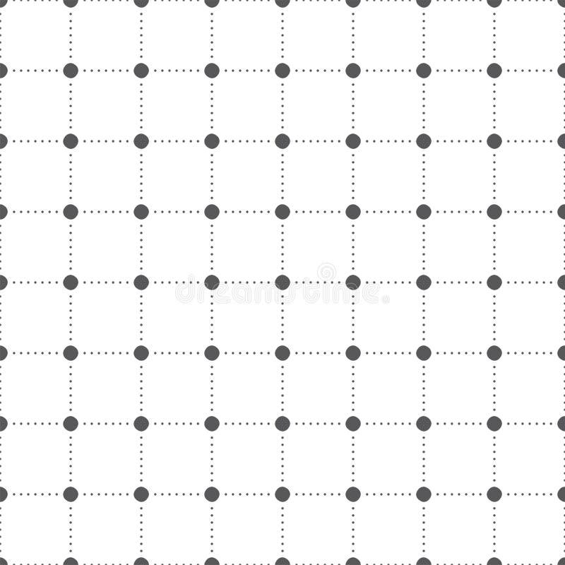 абстрактная картина безшовная многоточия Геометрическая печать дизайна моды Драпирование мебели monochrome бесплатная иллюстрация