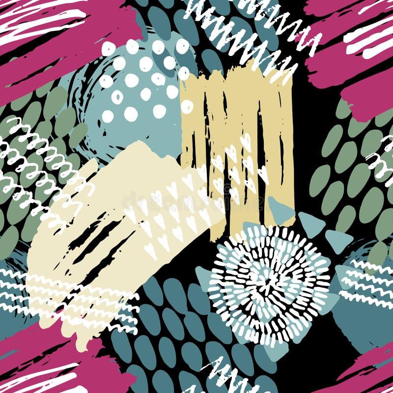 абстрактная картина безшовная иллюстрация вектора
