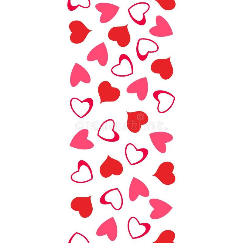 Абстрактная картина влюбленности сердец Для поздравительных открыток, день валентинки приглашений, свадьба, день рождения иллюстрация вектора