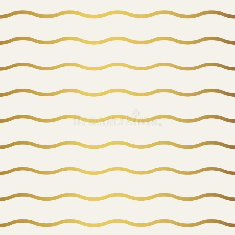 Абстрактная картина волны золота Monochrome белые обои иллюстрация вектора