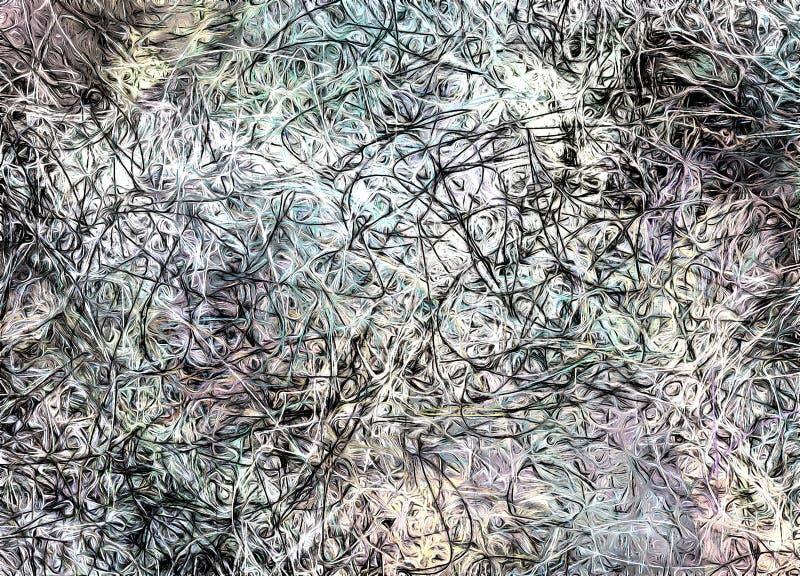 Абстрактная картина в приглушенных цветах бесплатная иллюстрация
