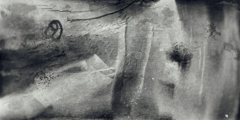Абстрактная картина в Monochrome цветах иллюстрация вектора