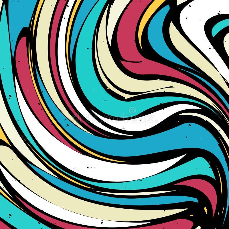 Абстрактная картина граффити на темной предпосылке бесплатная иллюстрация