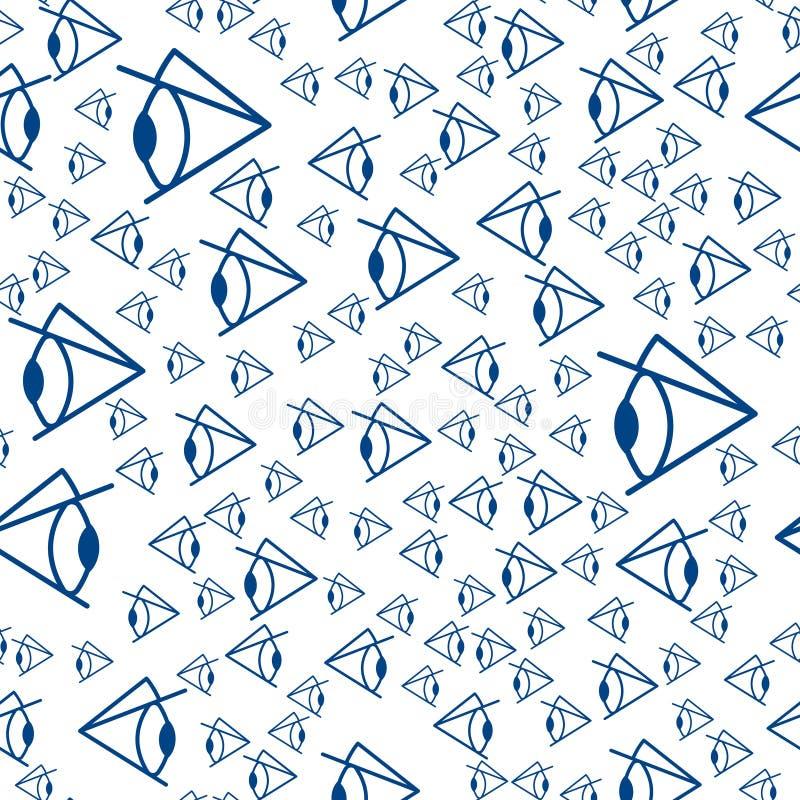 Абстрактная картина глаза иллюстрация вектора