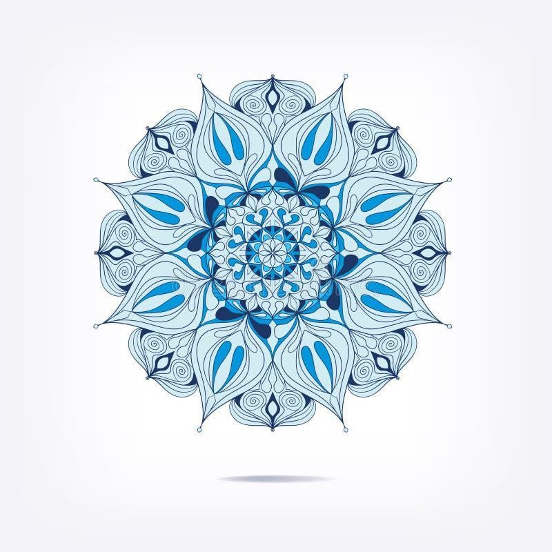 Абстрактная картина для украшения Орнамент мандалы Форма декоративного голубого цвета орнаментальная бесплатная иллюстрация
