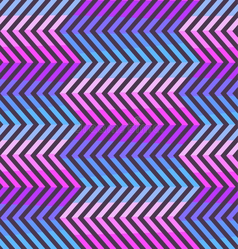 Абстрактная картина зигзага в розовых и фиолетовых цветах иллюстрация штока
