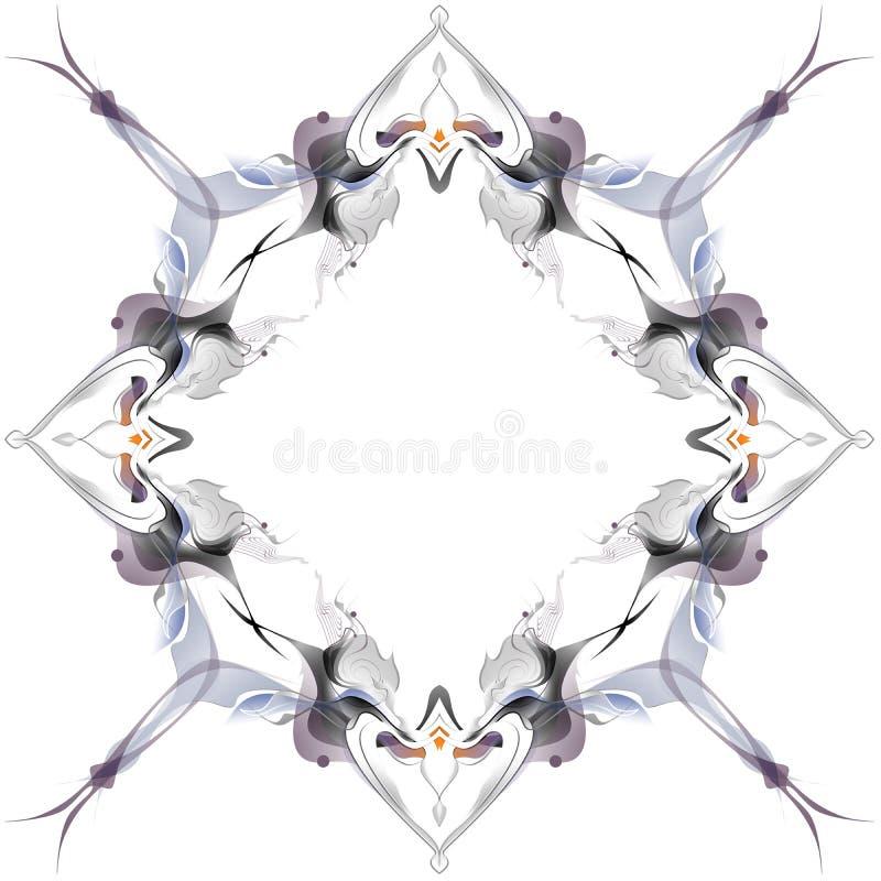 Абстрактная картина зимы в стиле Nouveau искусства стоковое изображение rf