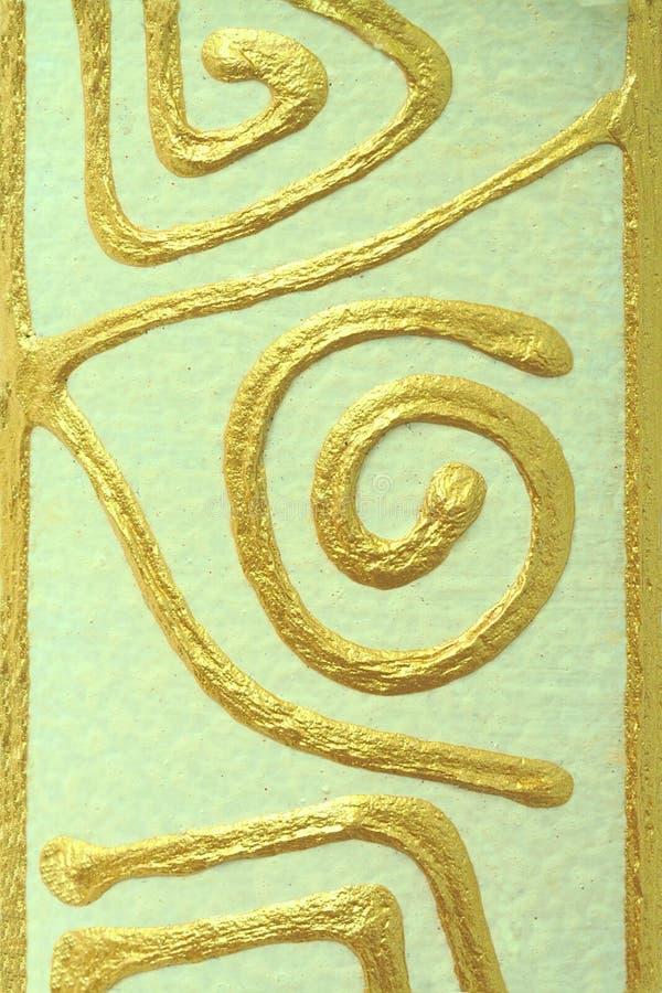 Абстрактная картина золота на керамике стоковые фото