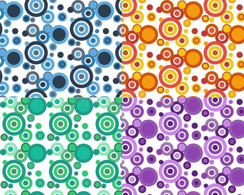 абстрактная картина круга предпосылки иллюстрация вектора