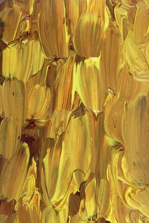 Абстрактная картина маслом с золотом иллюстрация вектора