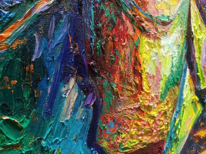 Абстрактная картина маслом текстуры на холсте стоковые изображения