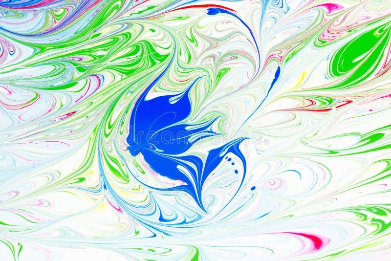 абстрактная картина Картина на воде Краска чернил цвета с волнами вектор детального чертежа предпосылки флористический иллюстрация штока