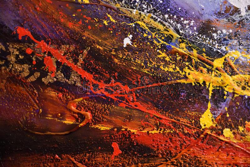 абстрактная картина Обои предпосылки искусства абстрактные красочные от картины маслом Современный, грязный стоковые изображения rf
