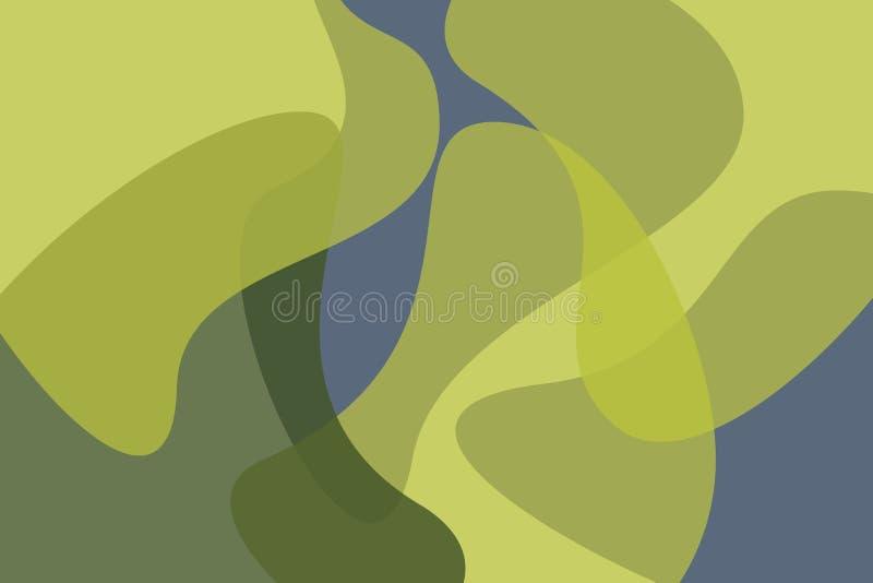 Абстрактная картина предпосылки сделанная с органическими, геометрическими формами иллюстрация штока