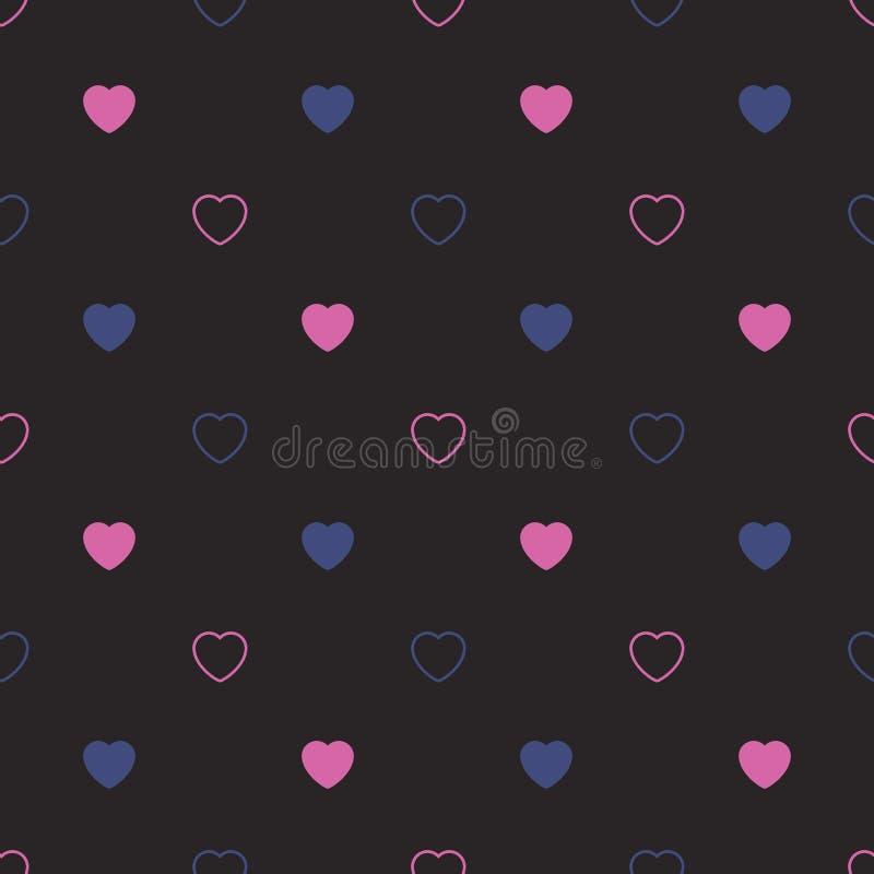абстрактная картина сердец безшовная E стоковая фотография