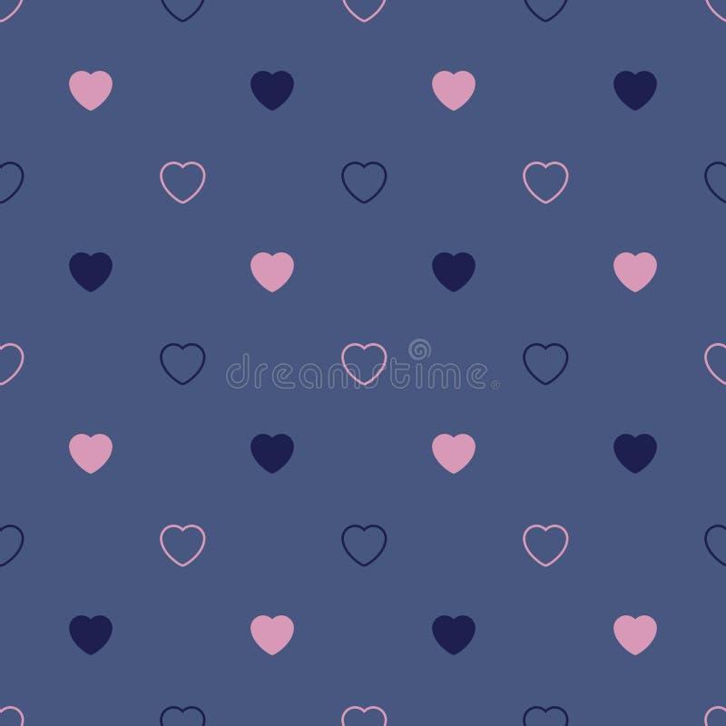 абстрактная картина сердец безшовная E иллюстрация штока