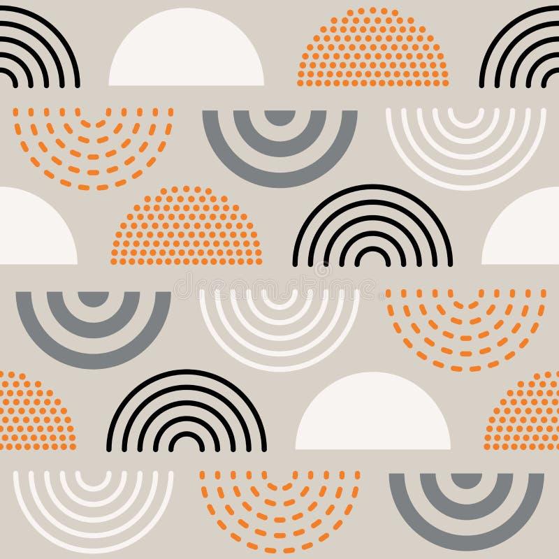 Абстрактная картина середины века иллюстрация вектора