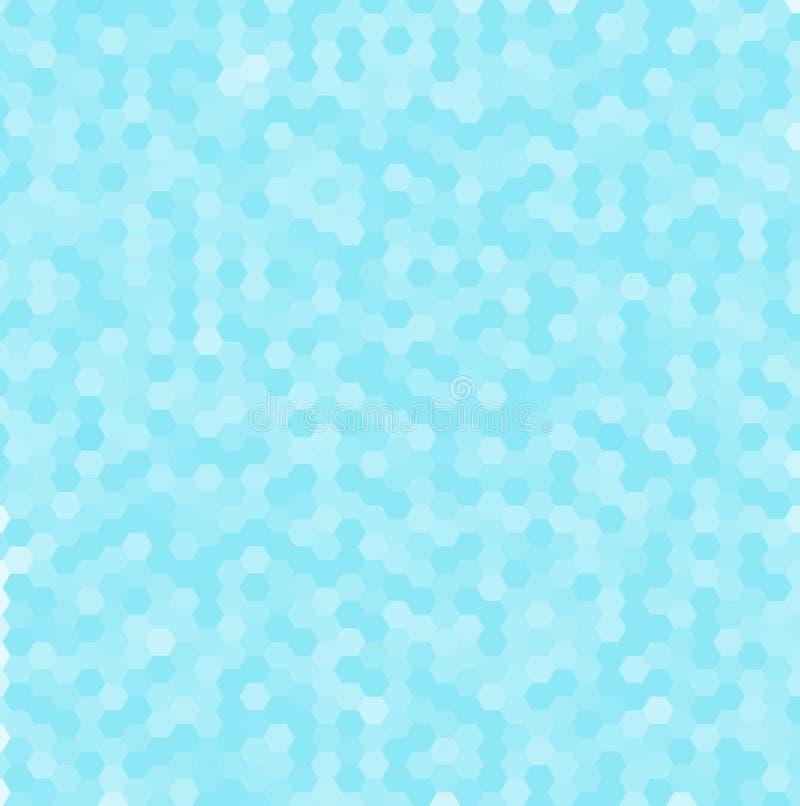 Абстрактная картина сини 3d шестиугольная Геометрическая предпосылка мозаики иллюстрация вектора