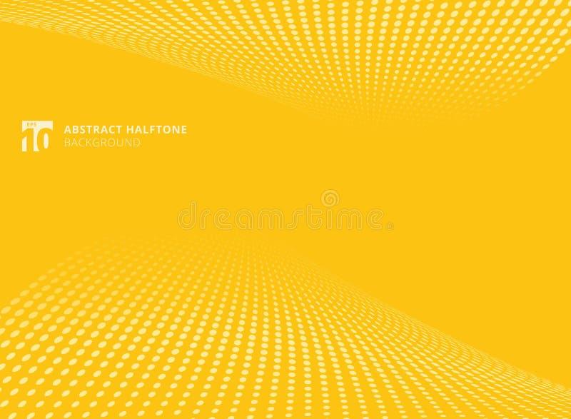Абстрактная картина ставит точки желтое backgrou перспективы полутонового изображения цвета бесплатная иллюстрация