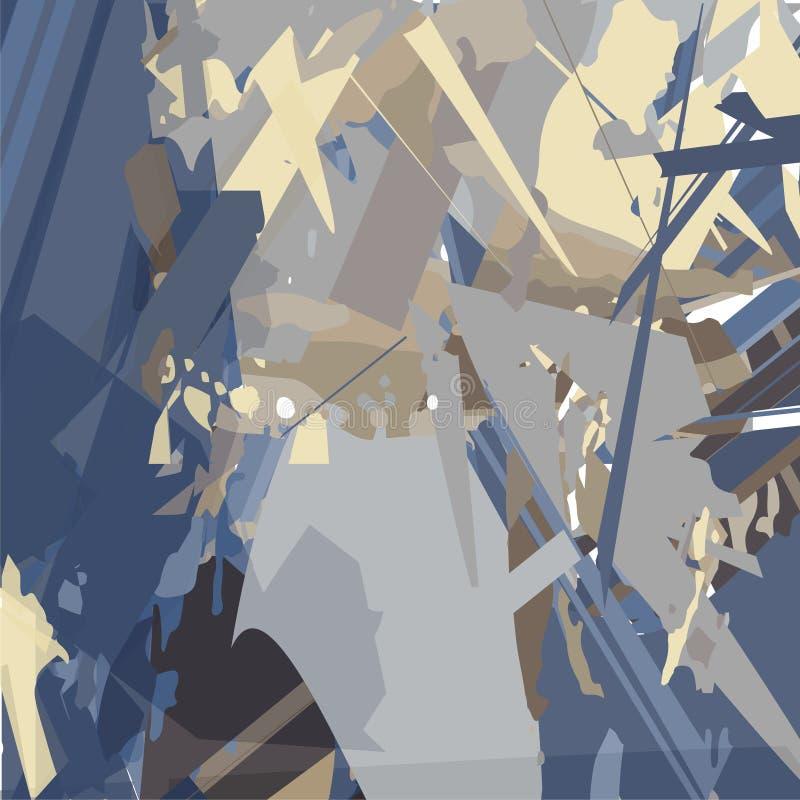 Абстрактная картина с острыми линиями на темной предпосылке иллюстрация вектора