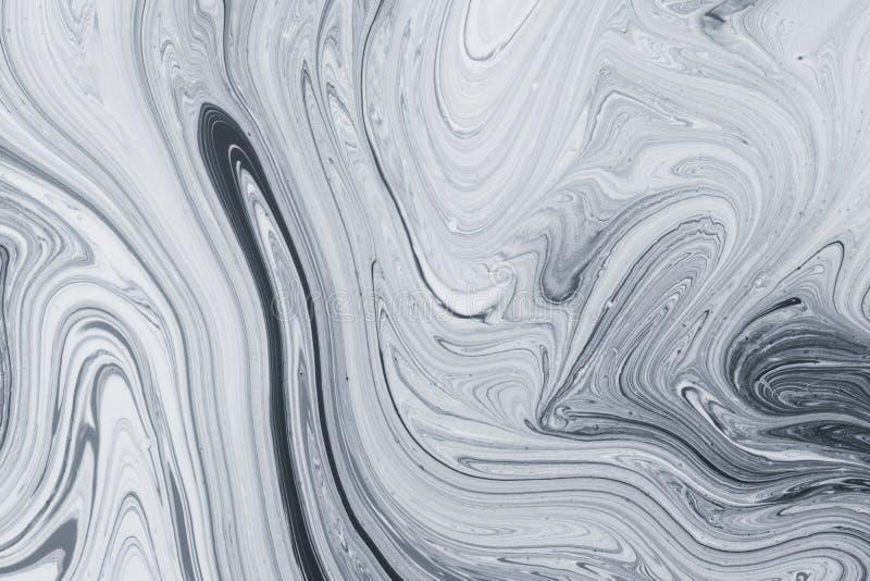Абстрактная картина, традиционное искусство Ebru Краска чернил цвета с волнами Мраморная предпосылка стоковое изображение