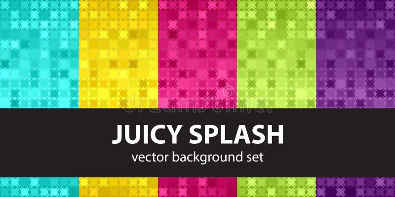 Абстрактная картина установленное сочное Splash& x22; вектор предпосылок безшовный бесплатная иллюстрация