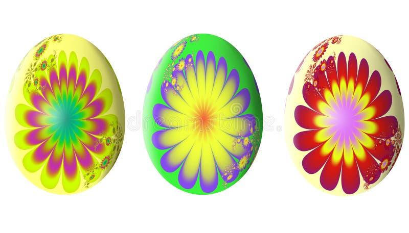 Абстрактная картина фрактали сделанное изображение пасхального яйца иллюстрация иллюстрация вектора