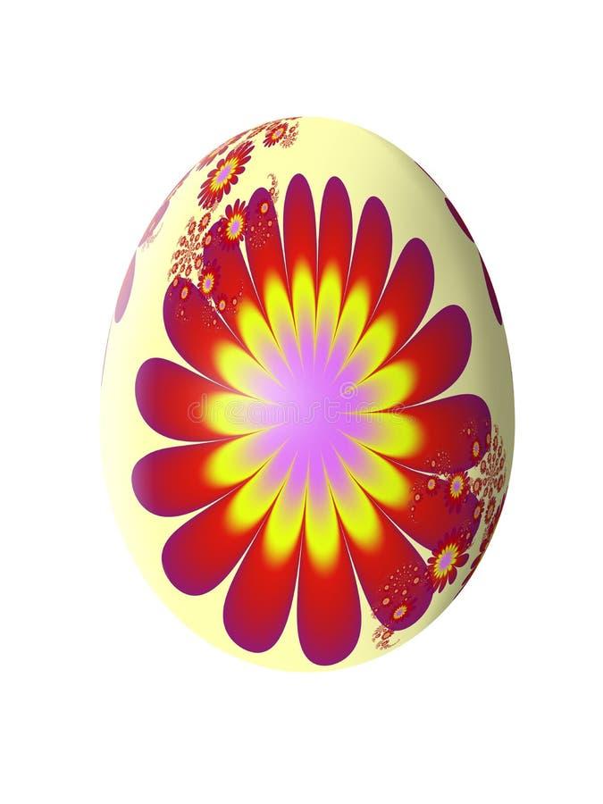 Абстрактная картина фрактали сделанное изображение пасхального яйца иллюстрация бесплатная иллюстрация