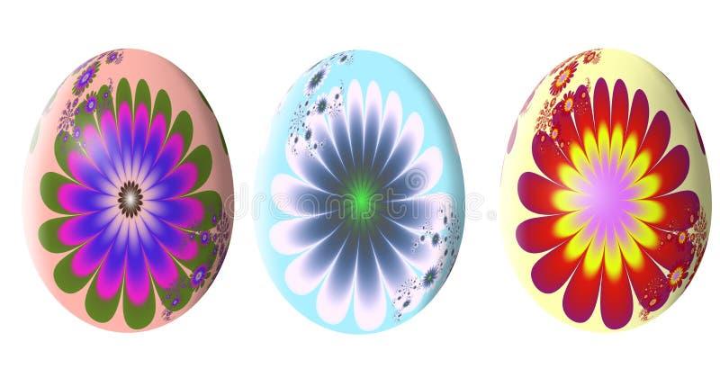 Абстрактная картина фрактали сделанное изображение пасхального яйца иллюстрация иллюстрация штока