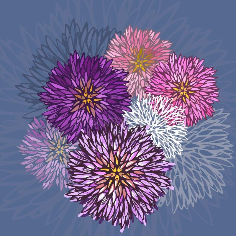 Абстрактная картина цветка астры бесплатная иллюстрация