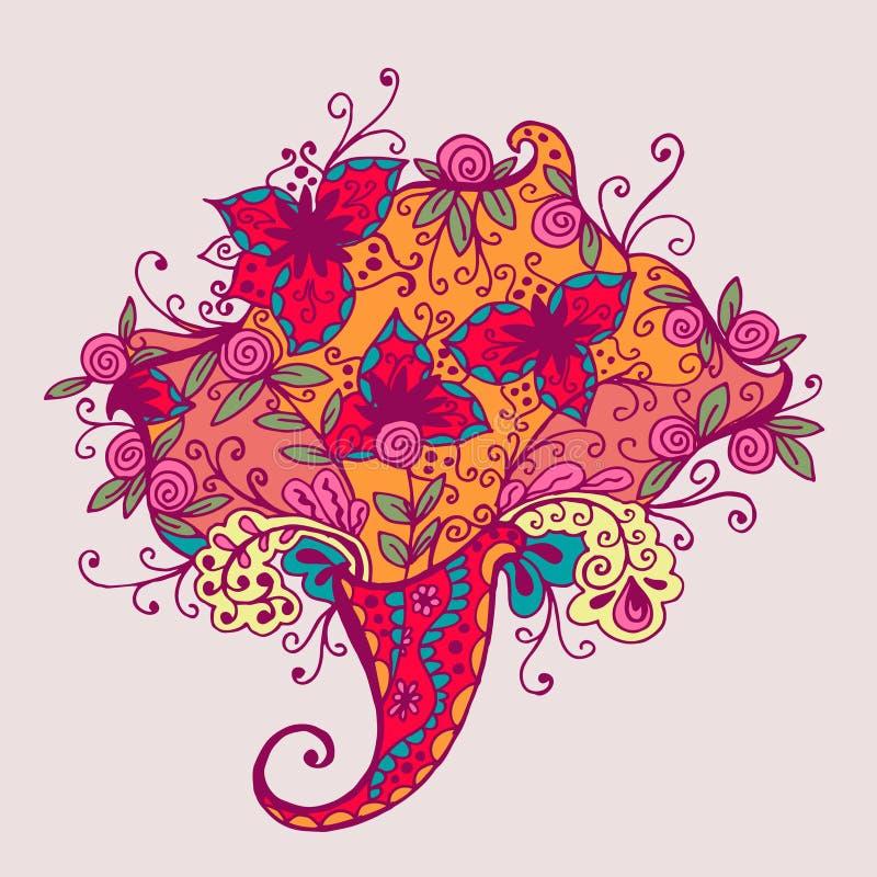 абстрактная картина цветка также вектор иллюстрации притяжки corel бесплатная иллюстрация