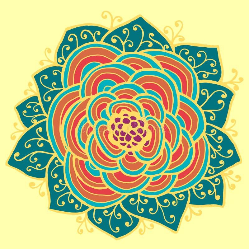 абстрактная картина цветка также вектор иллюстрации притяжки corel иллюстрация штока