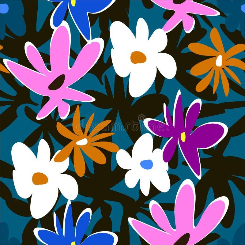 Абстрактная картина цветков на темной предпосылке бесплатная иллюстрация