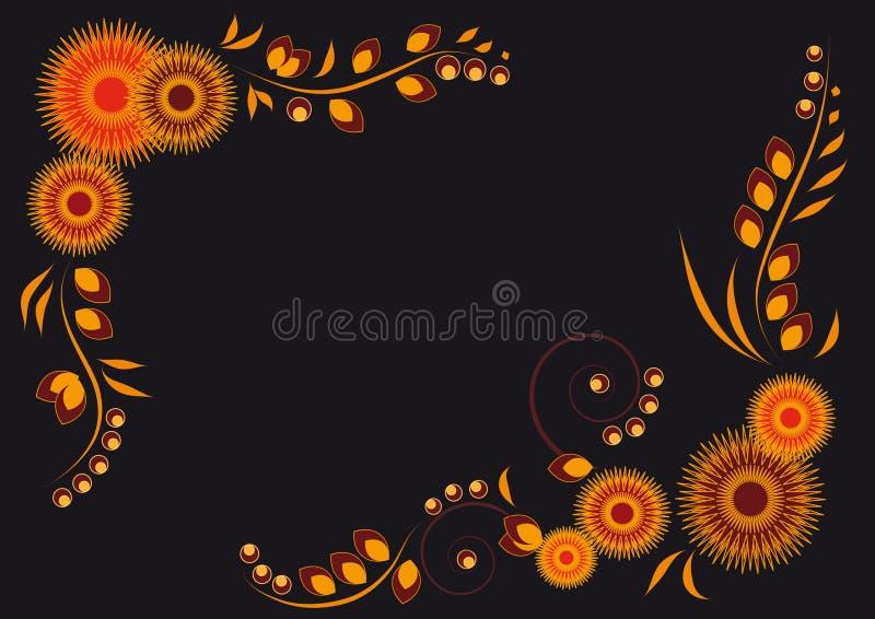 абстрактная картина цветков иллюстрация вектора