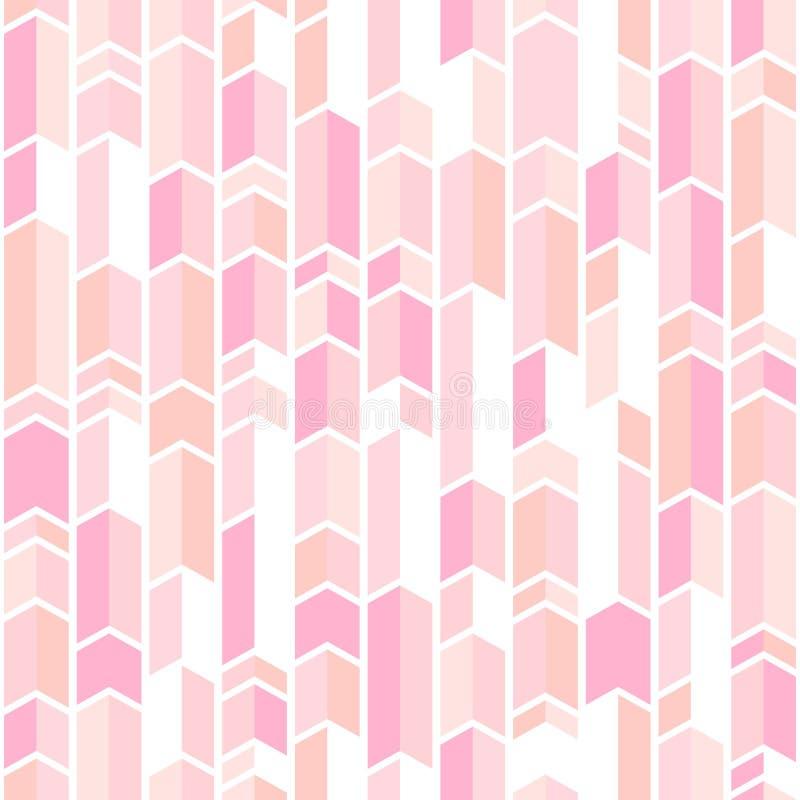 Абстрактная картина geo внутри краснеет розовые цвета, картина шеврона пастельного пинка бесплатная иллюстрация