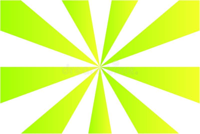 Абстрактная картина sunburst, цвета градиента зеленые и желтые луча на белой предпосылке Иллюстрация вектора, EPS10 бесплатная иллюстрация
