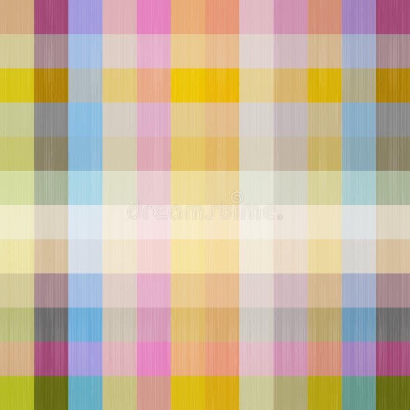 Абстрактная квадратная ретро безшовная предпосылка иллюстрация штока