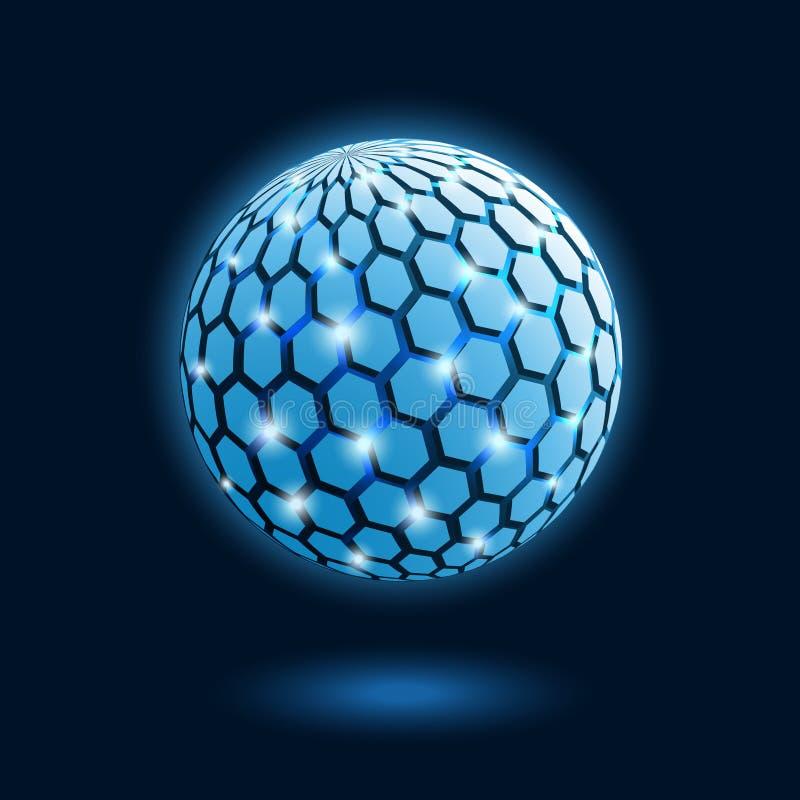 абстрактная клетчатая гловальная икона иллюстрация вектора