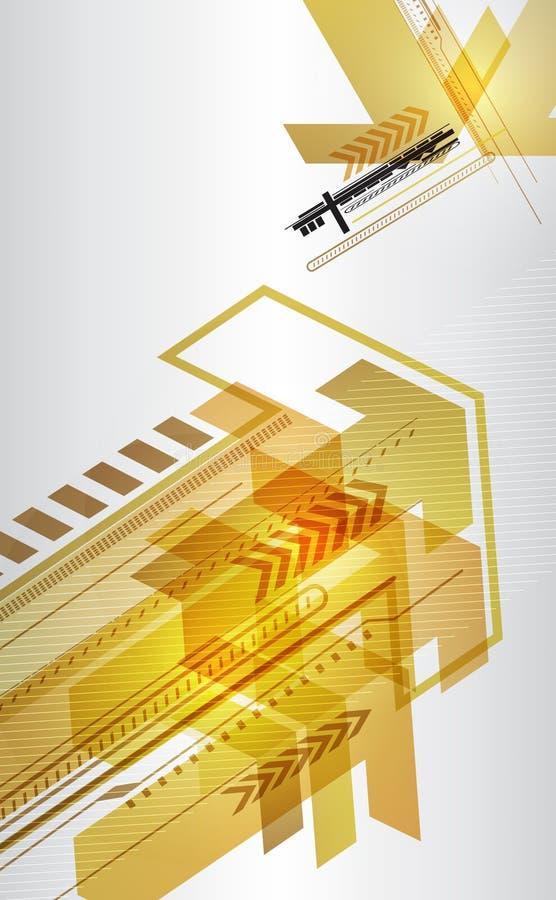 Абстрактная конструкция techno с стрелками. бесплатная иллюстрация